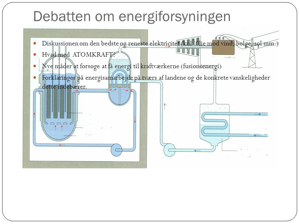 Debatten om energiforsyningen