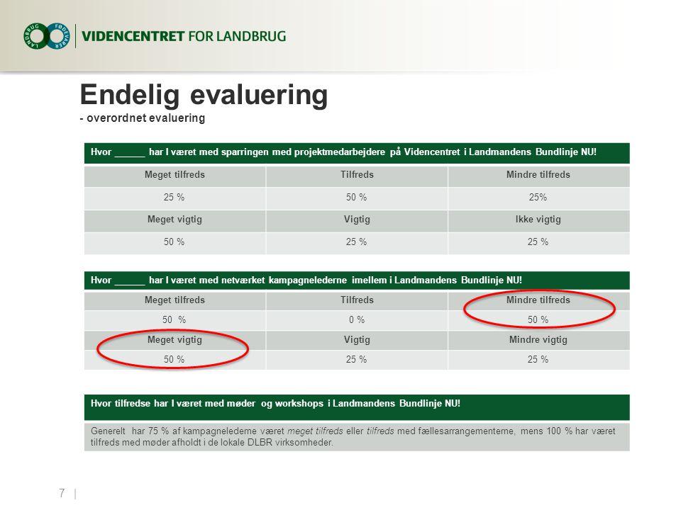 Endelig evaluering - overordnet evaluering