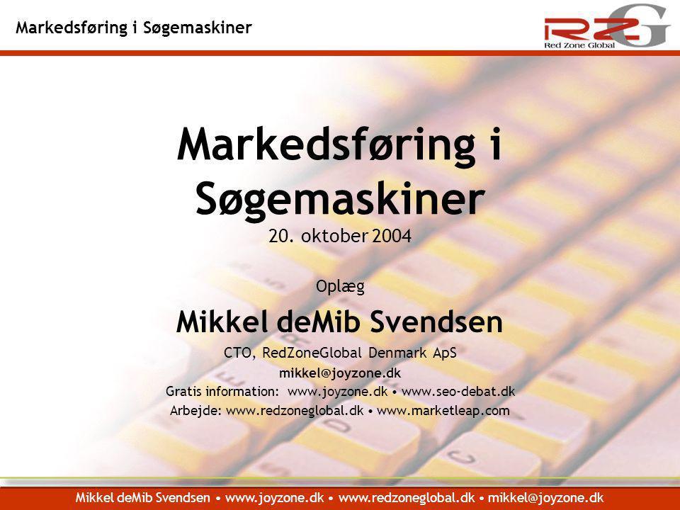 Markedsføring i Søgemaskiner 20. oktober 2004
