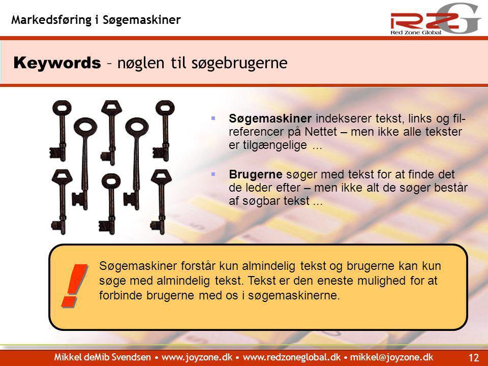 Keywords – nøglen til søgebrugerne