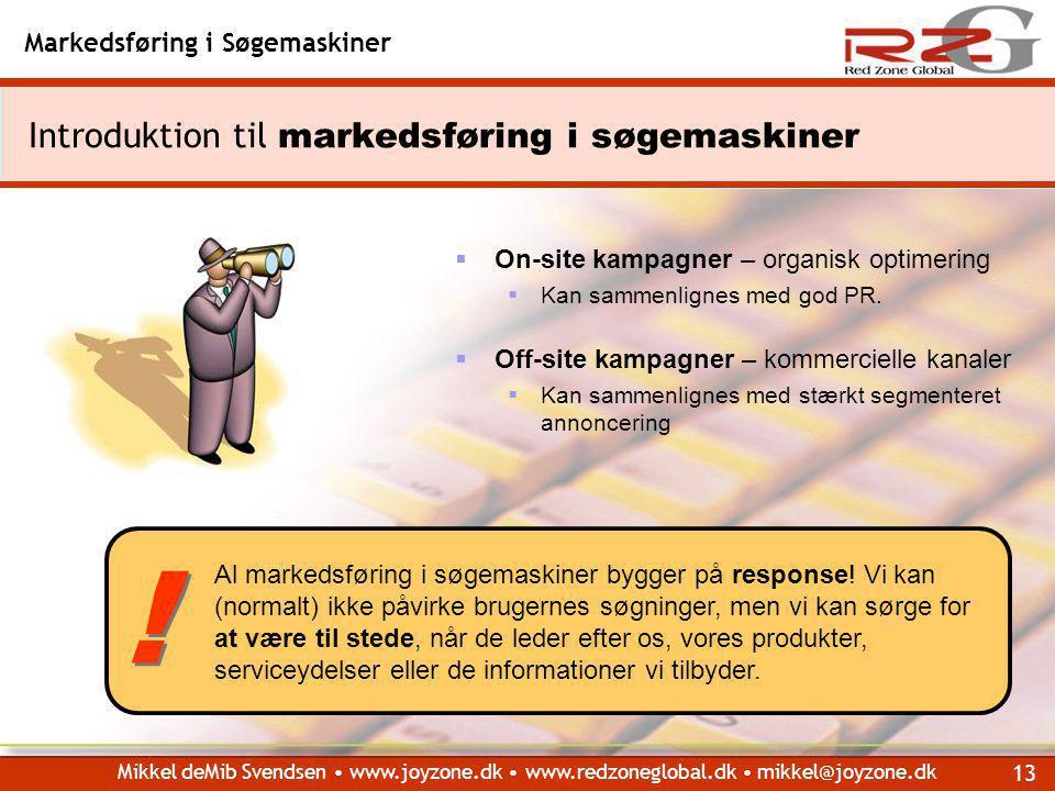 Introduktion til markedsføring i søgemaskiner