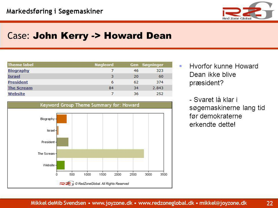 Case: John Kerry -> Howard Dean