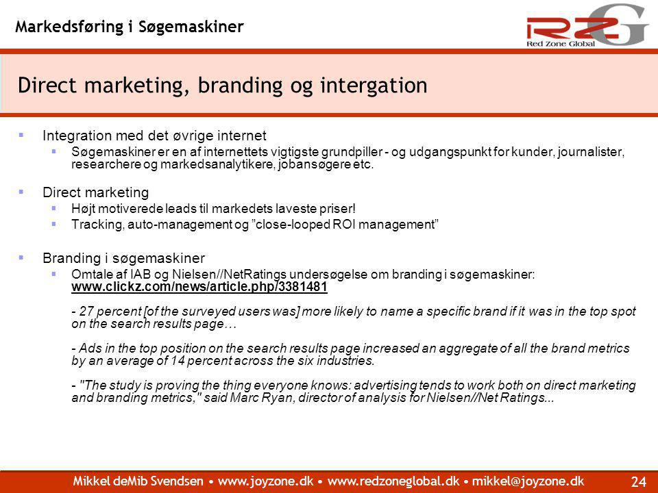 Direct marketing, branding og intergation