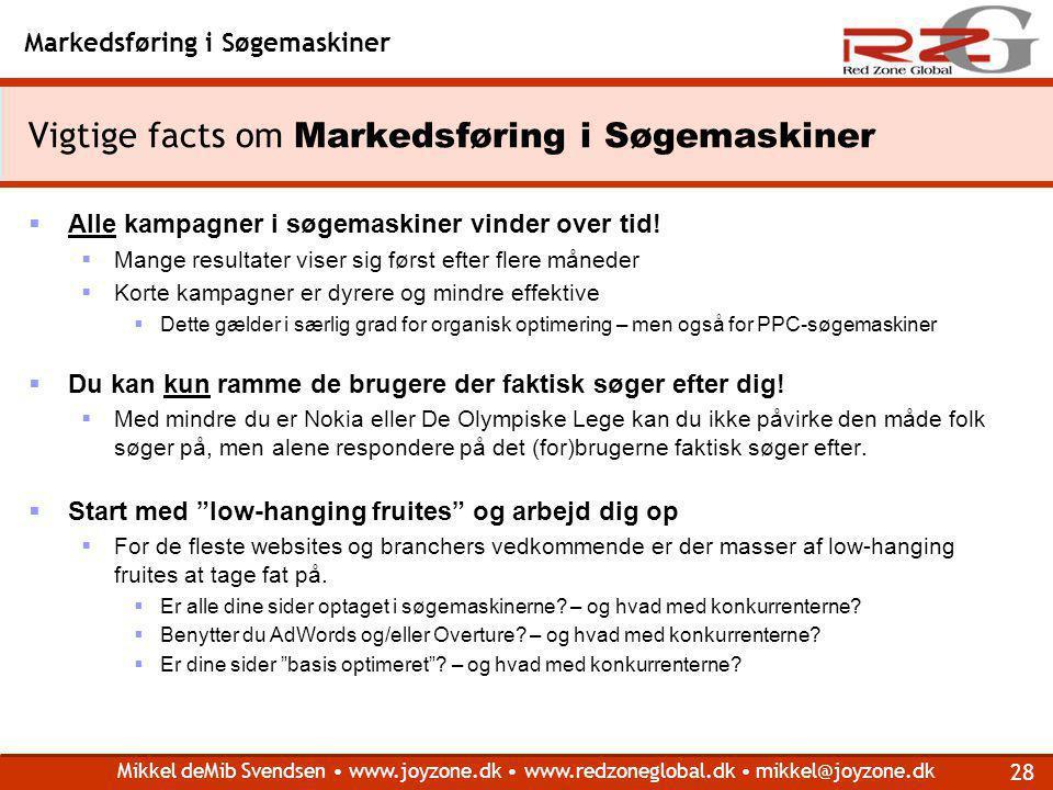 Vigtige facts om Markedsføring i Søgemaskiner