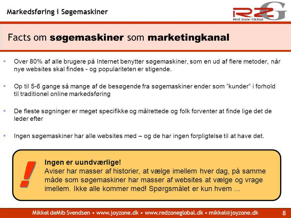 Facts om søgemaskiner som marketingkanal