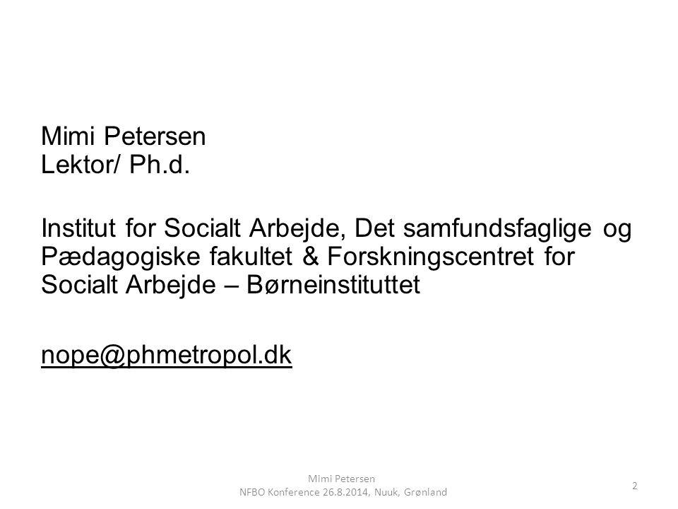NFBO Konference 26.8.2014, Nuuk, Grønland