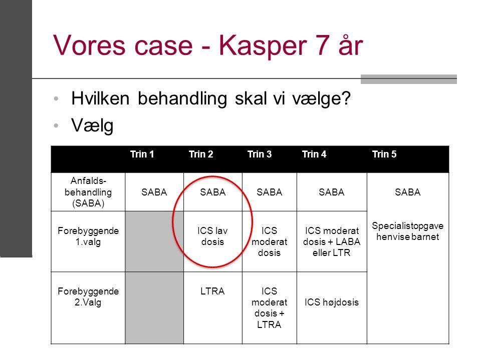 Vores case - Kasper 7 år Hvilken behandling skal vi vælge Vælg Trin 1