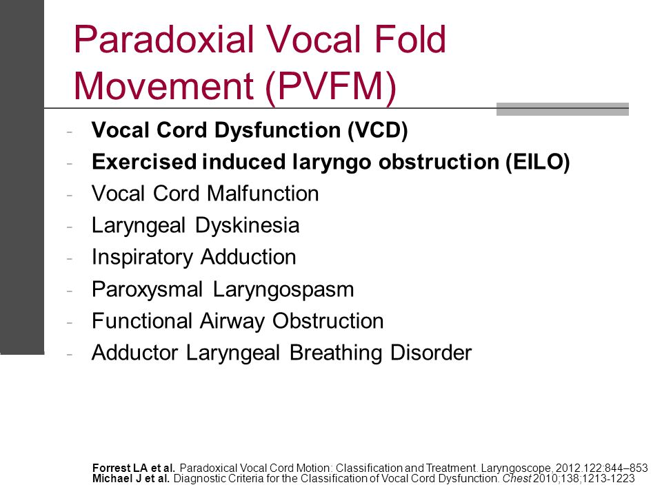 Paradoxial Vocal Fold Movement (PVFM)