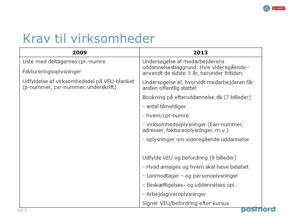 Krav til virksomheder 2009 2013 Liste med deltagernes cpr.-numre