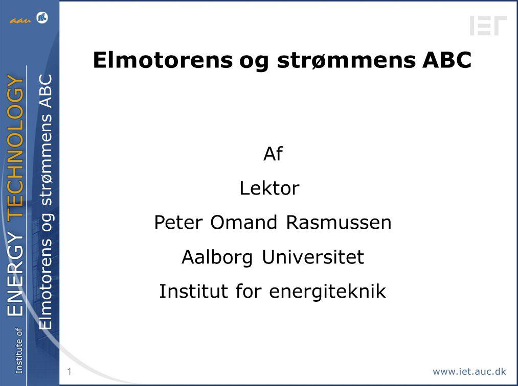 Elmotorens og strømmens ABC