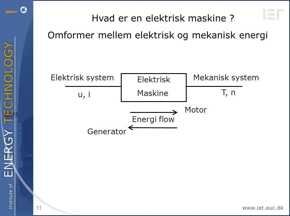Hvad er en elektrisk maskine