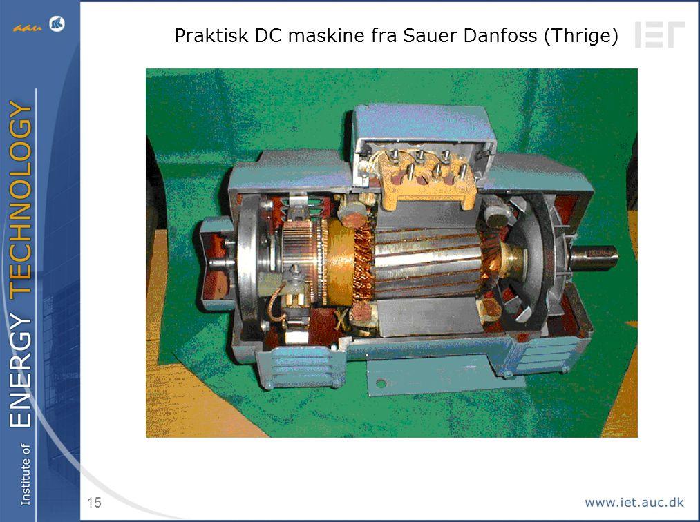 Praktisk DC maskine fra Sauer Danfoss (Thrige)