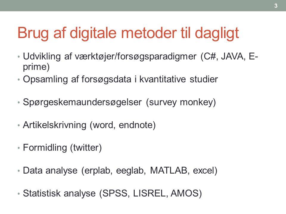 Brug af digitale metoder til dagligt