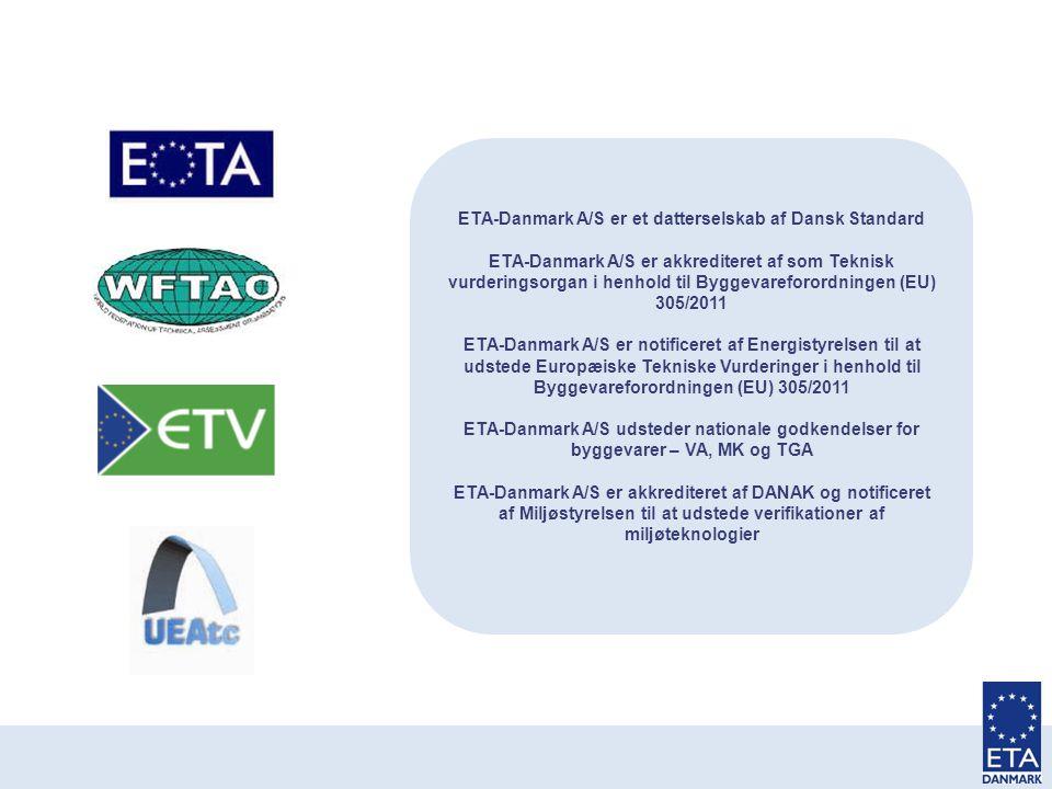 ETA-Danmark A/S er et datterselskab af Dansk Standard