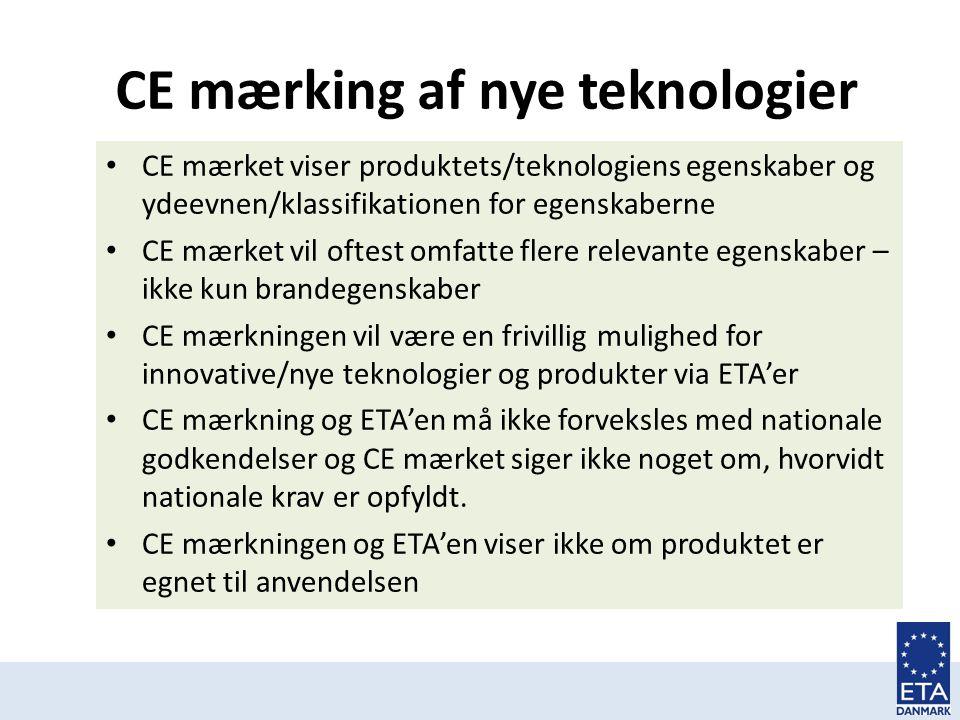 CE mærking af nye teknologier