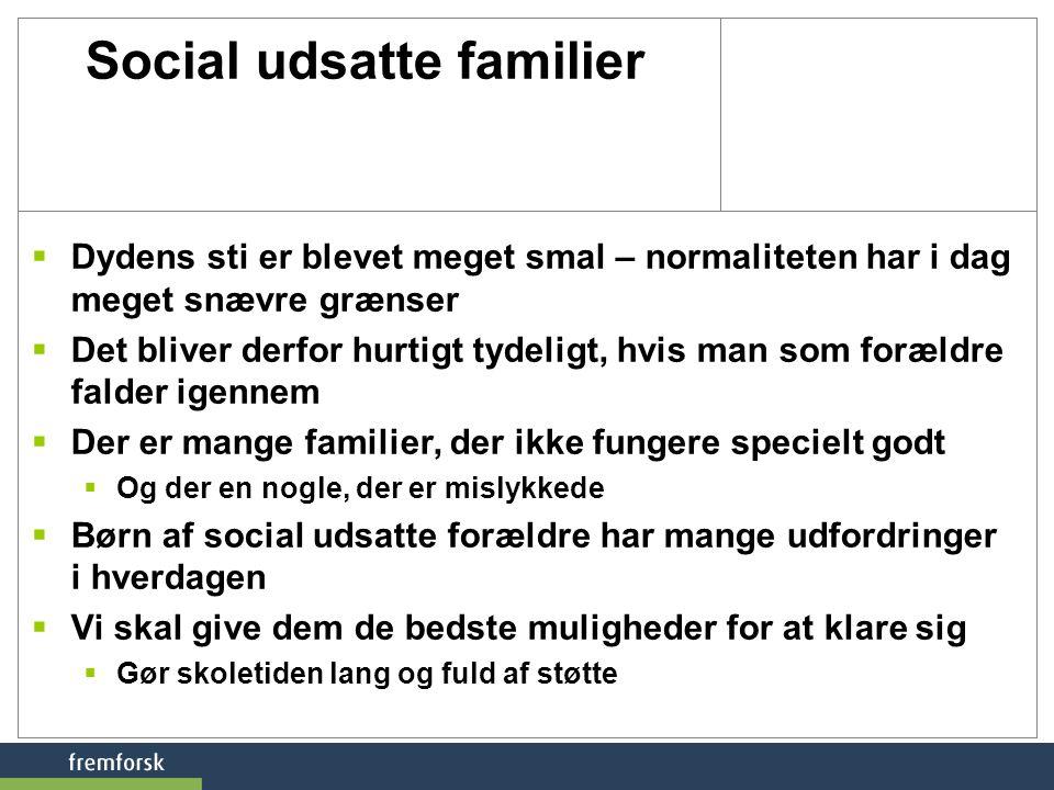 Social udsatte familier