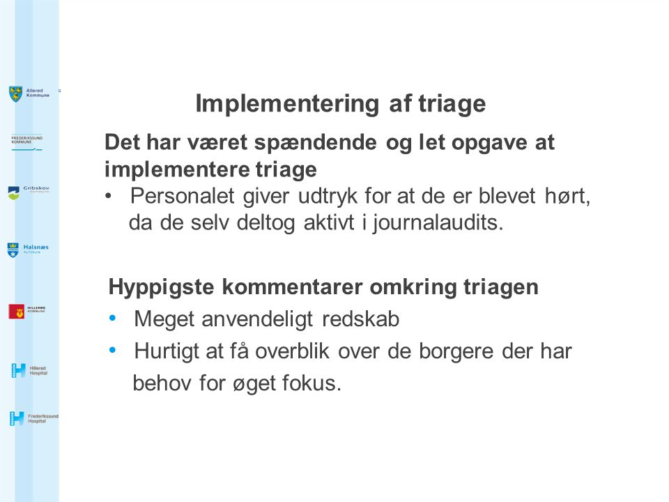 Implementering af triage