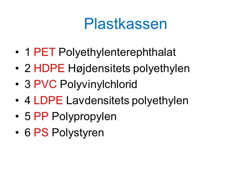 Plastkassen 1 PET Polyethylenterephthalat