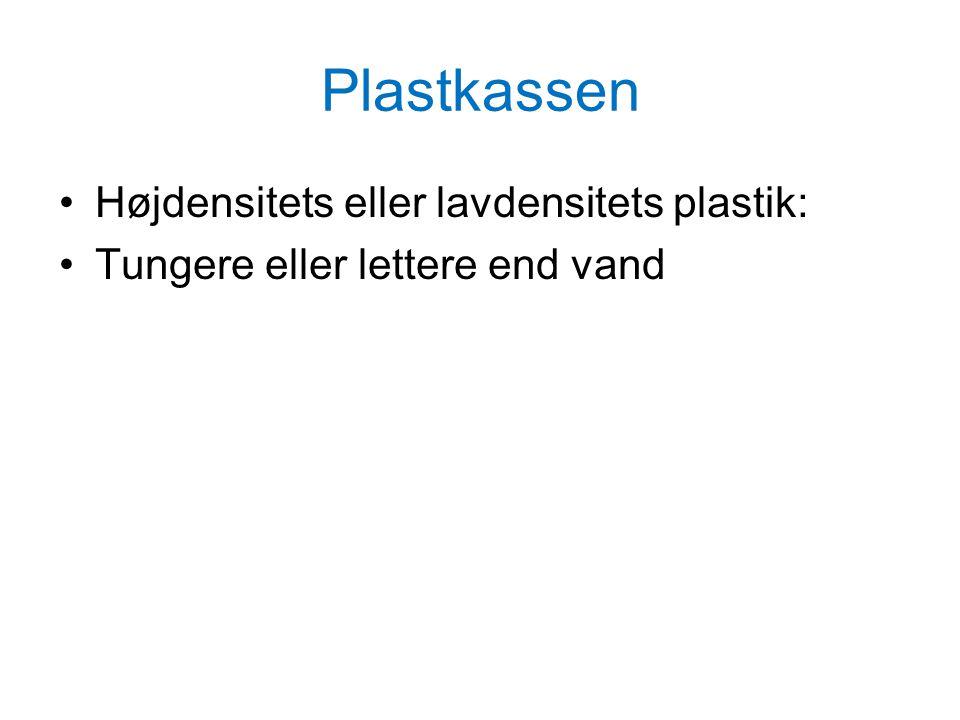 Plastkassen Højdensitets eller lavdensitets plastik: