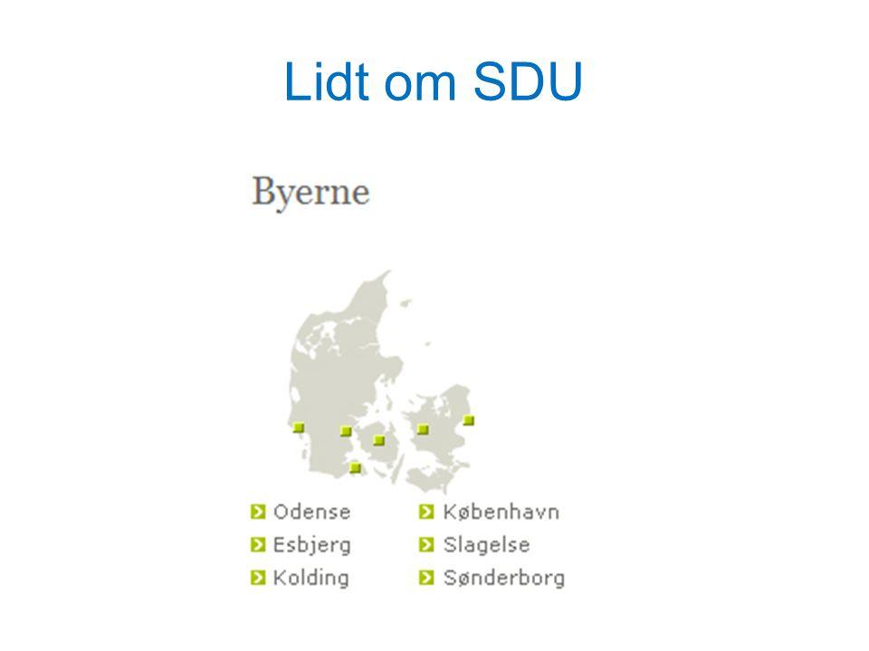 Lidt om SDU