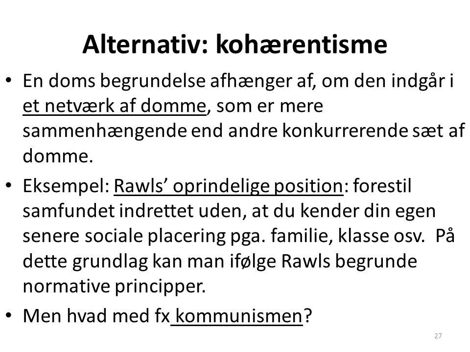 Alternativ: kohærentisme