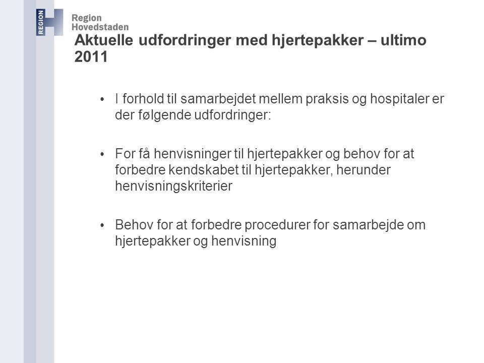 Aktuelle udfordringer med hjertepakker – ultimo 2011