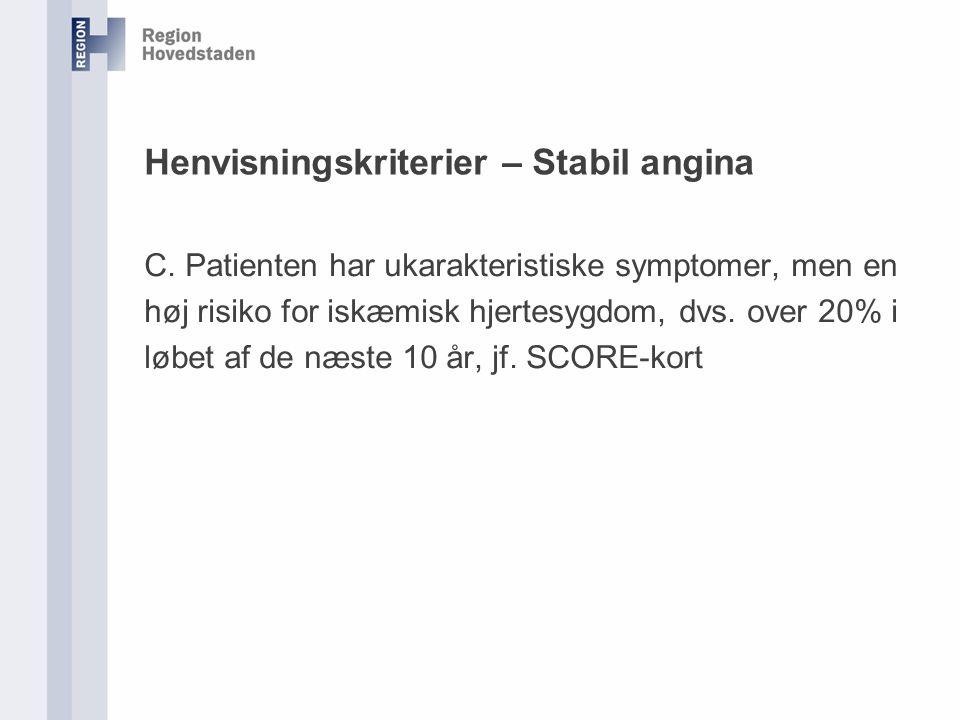 Henvisningskriterier – Stabil angina