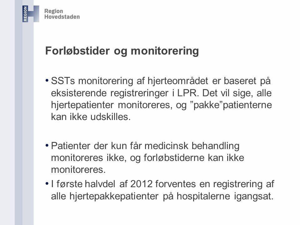 Forløbstider og monitorering