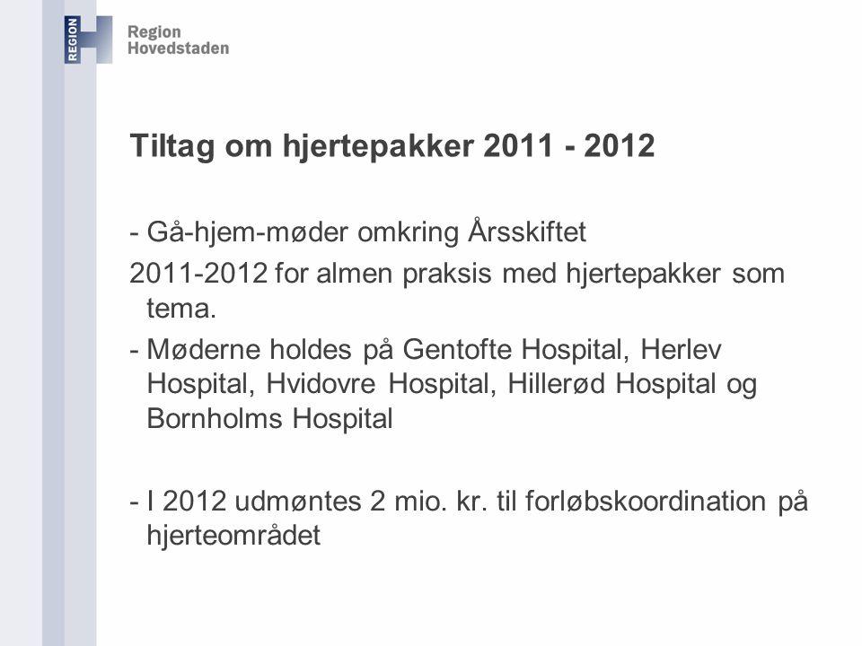 Tiltag om hjertepakker 2011 - 2012