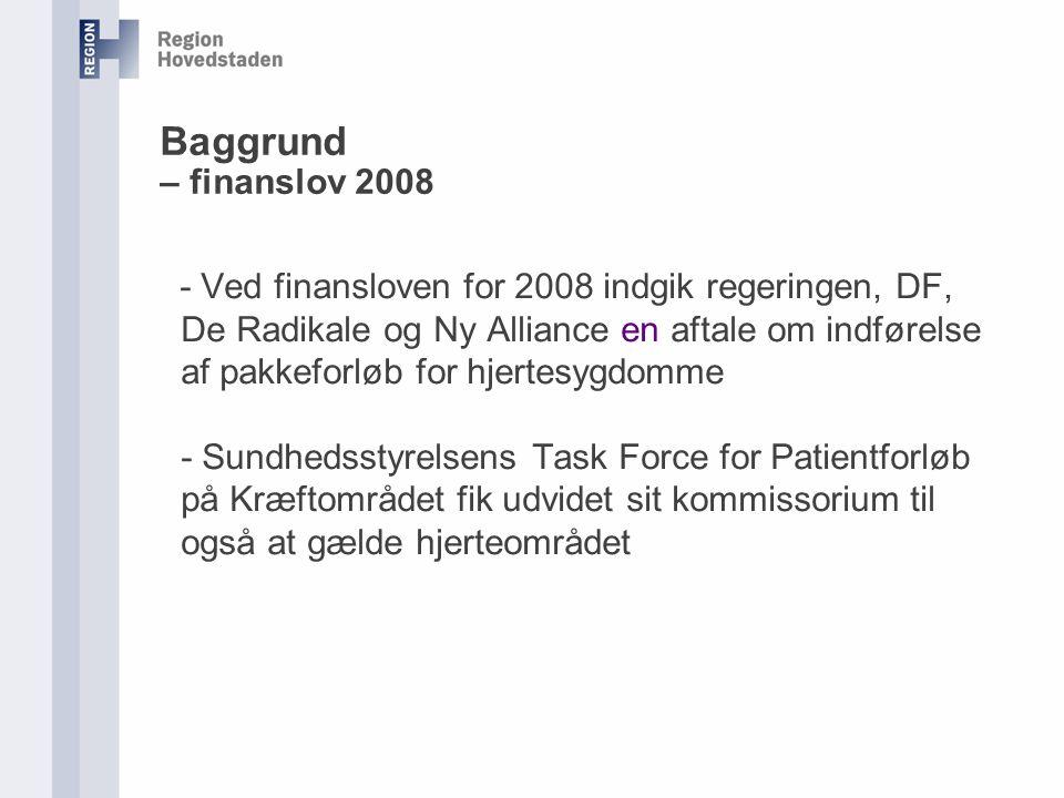 Baggrund – finanslov 2008