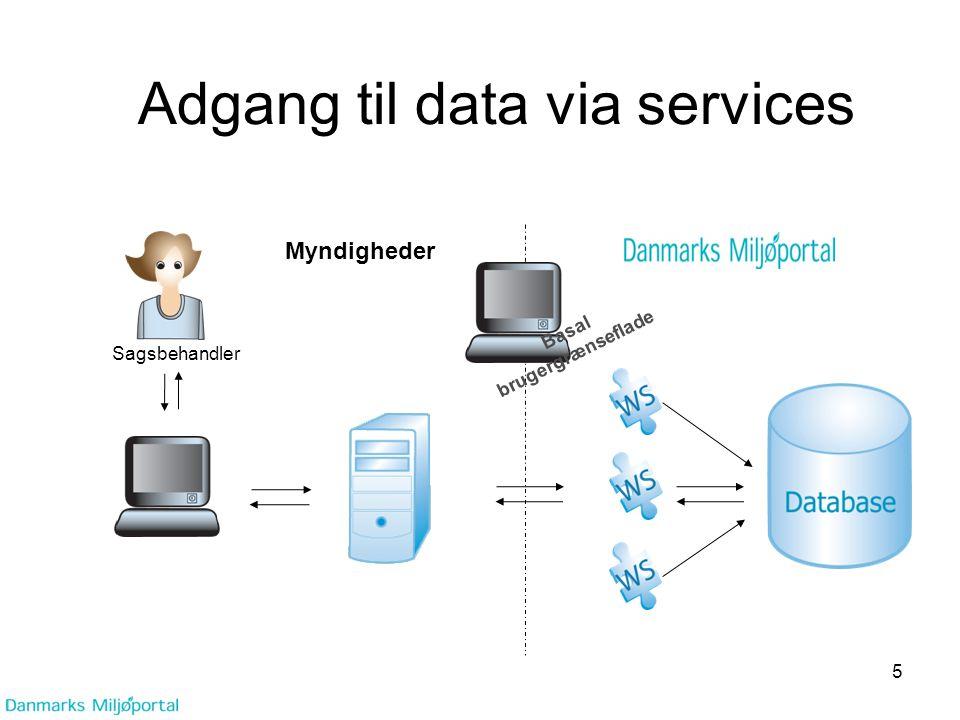 Adgang til data via services