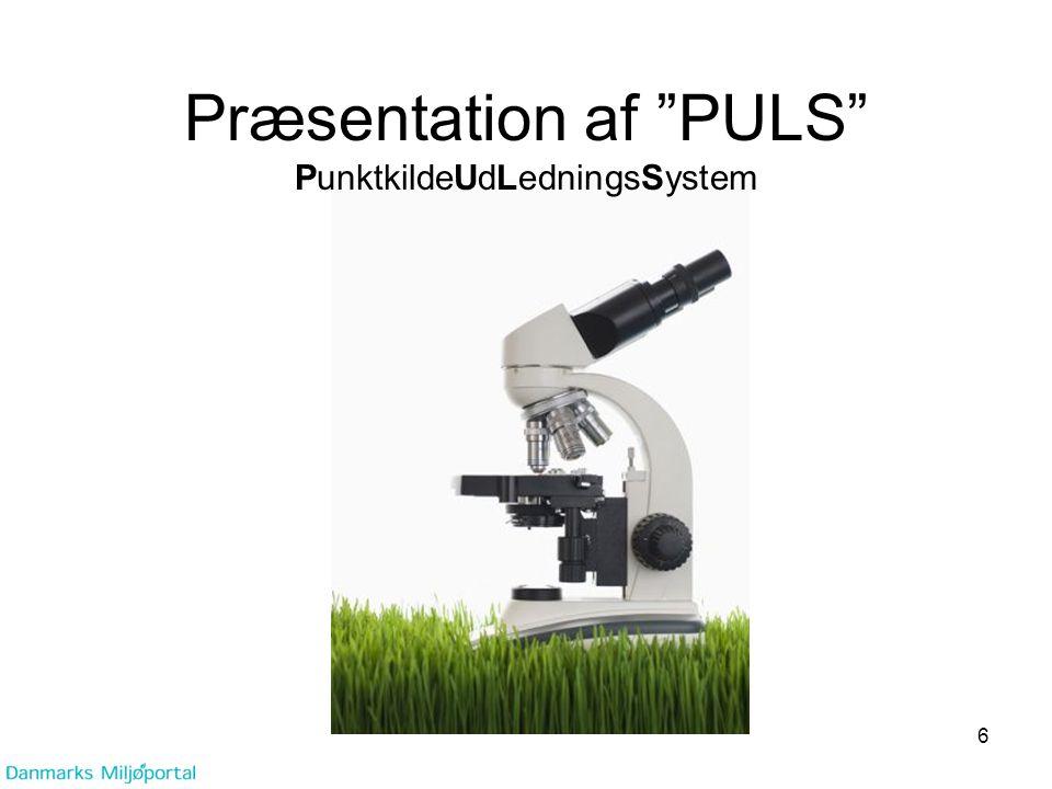Præsentation af PULS PunktkildeUdLedningsSystem