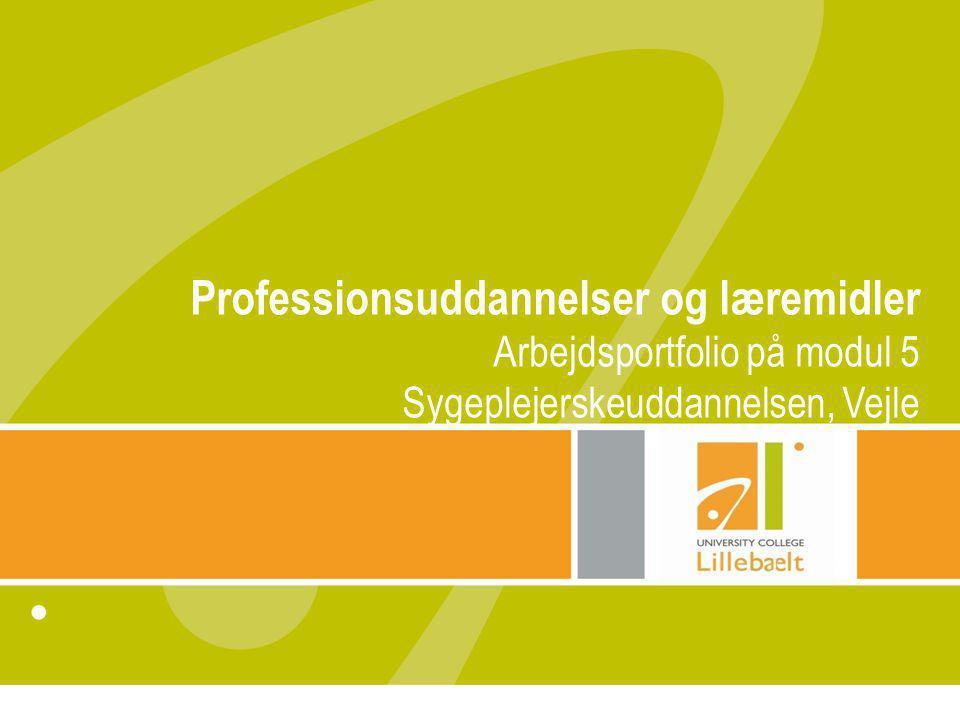 Professionsuddannelser og læremidler