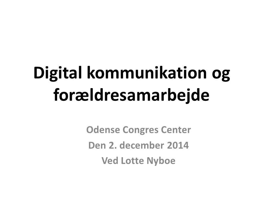 Digital kommunikation og forældresamarbejde