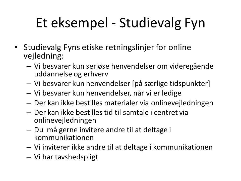 Et eksempel - Studievalg Fyn