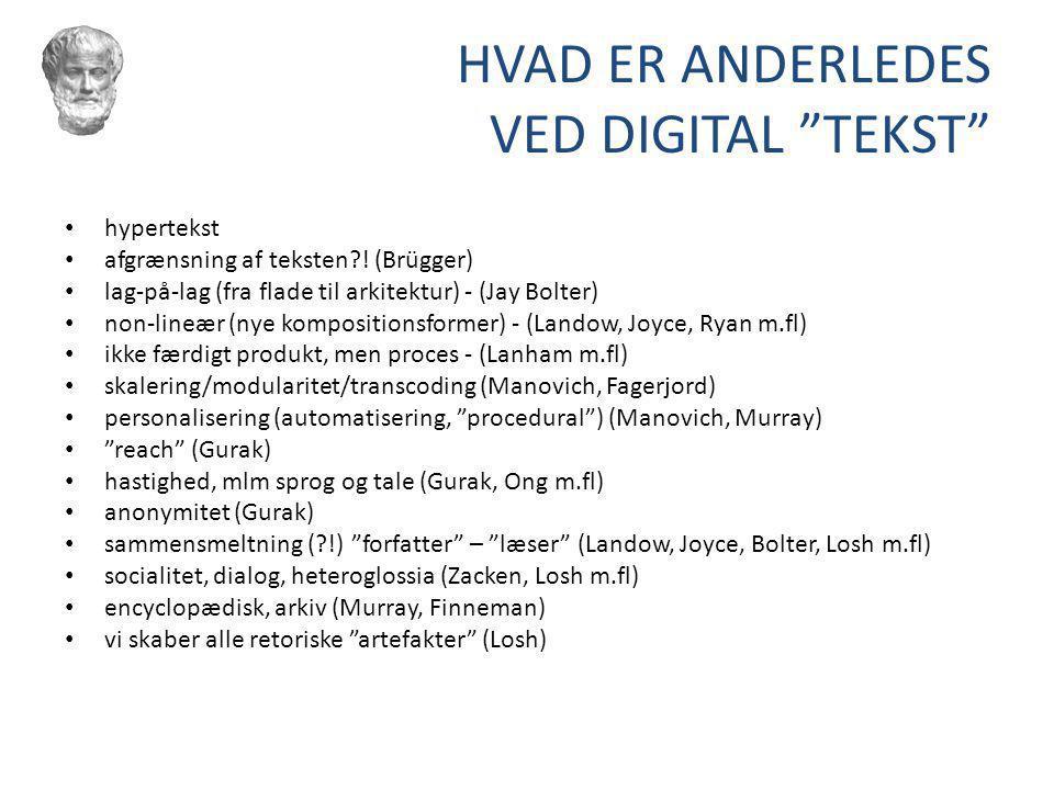 HVAD ER ANDERLEDES VED DIGITAL TEKST