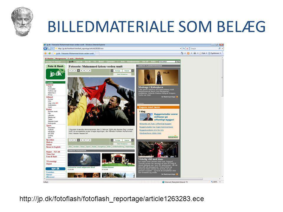 BILLEDMATERIALE SOM BELÆG