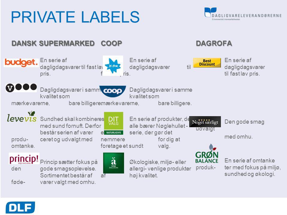 PRIVATE LABELS DANSK SUPERMARKED COOP DAGROFA