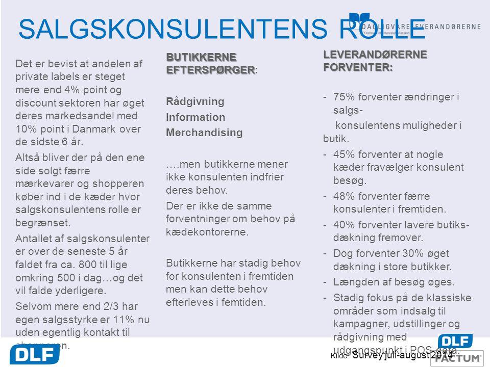 SALGSKONSULENTENS ROLLE