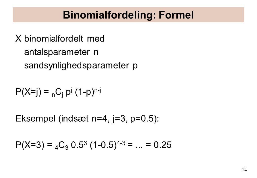 Binomialfordeling: Formel