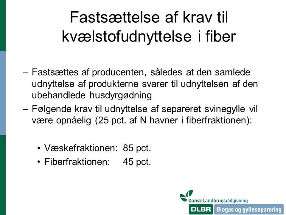 Fastsættelse af krav til kvælstofudnyttelse i fiber