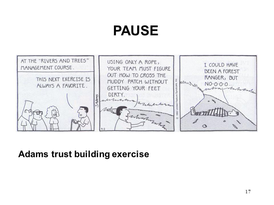 PAUSE Adams trust building exercise