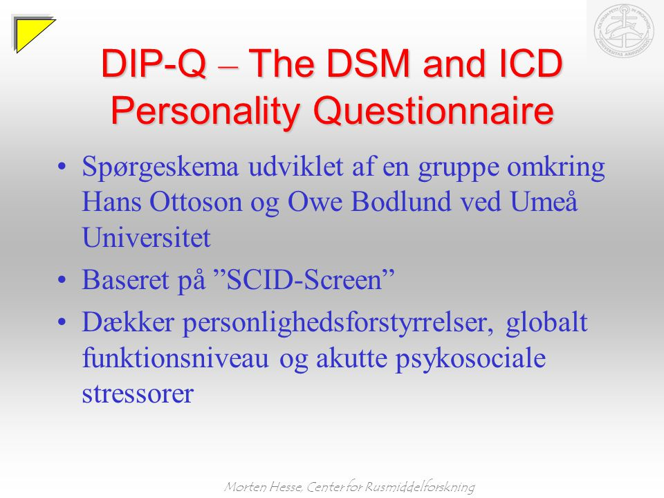 DIP-Q – The DSM and ICD Personality Questionnaire