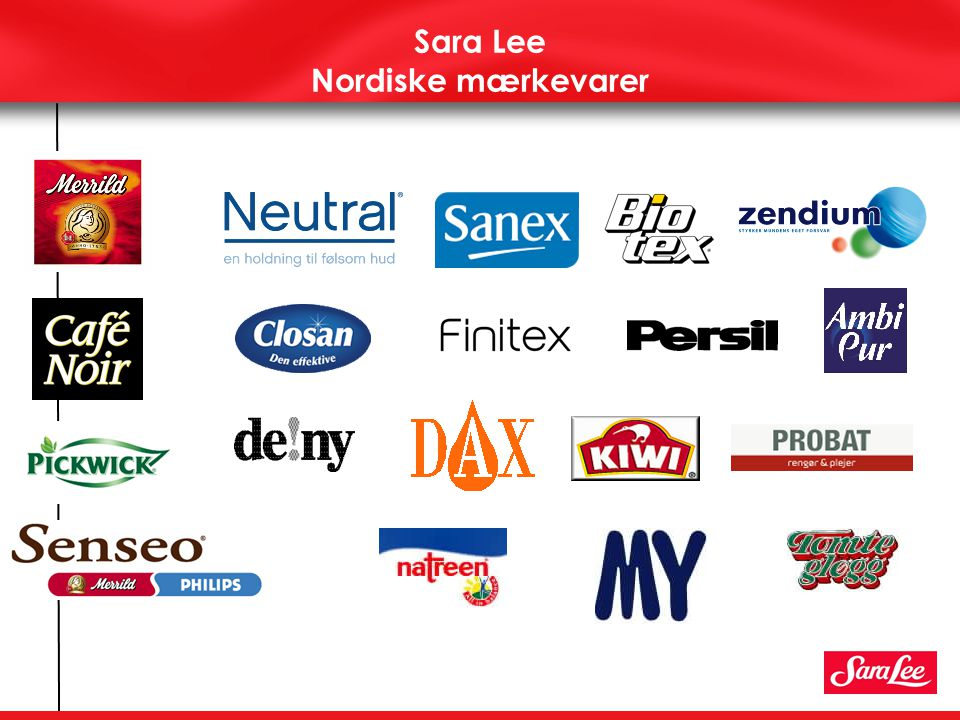 Sara Lee Nordiske mærkevarer