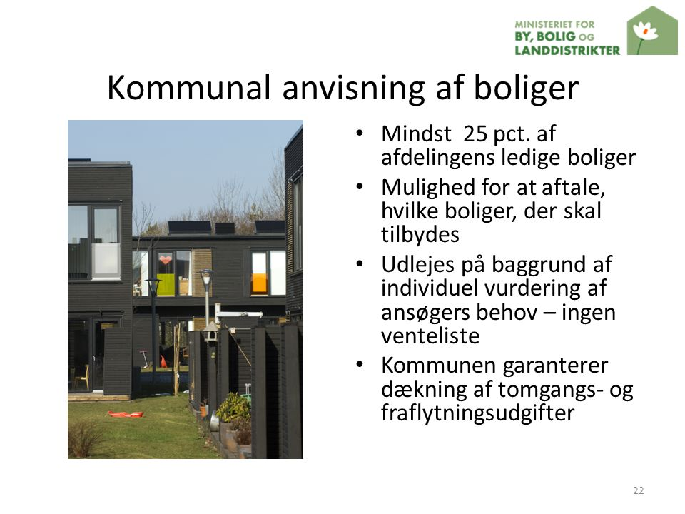 Kommunal anvisning af boliger