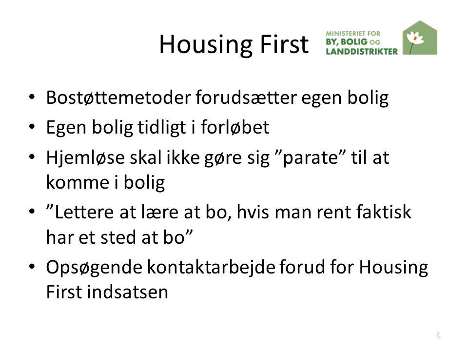 Housing First Bostøttemetoder forudsætter egen bolig