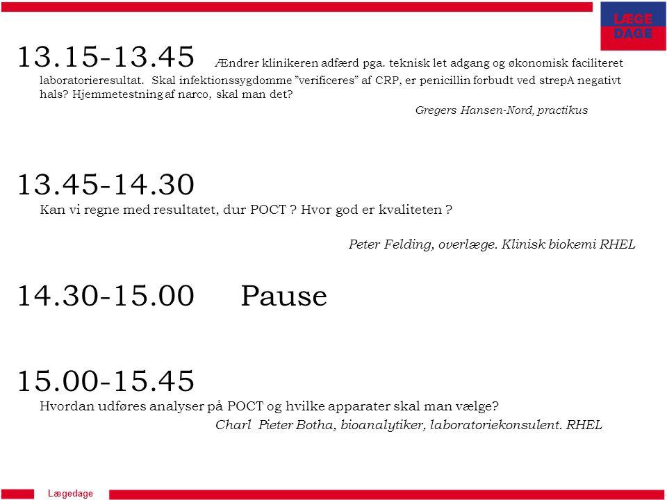 13. 15-13. 45. Ændrer klinikeren adfærd pga