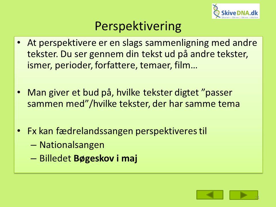 Perspektivering