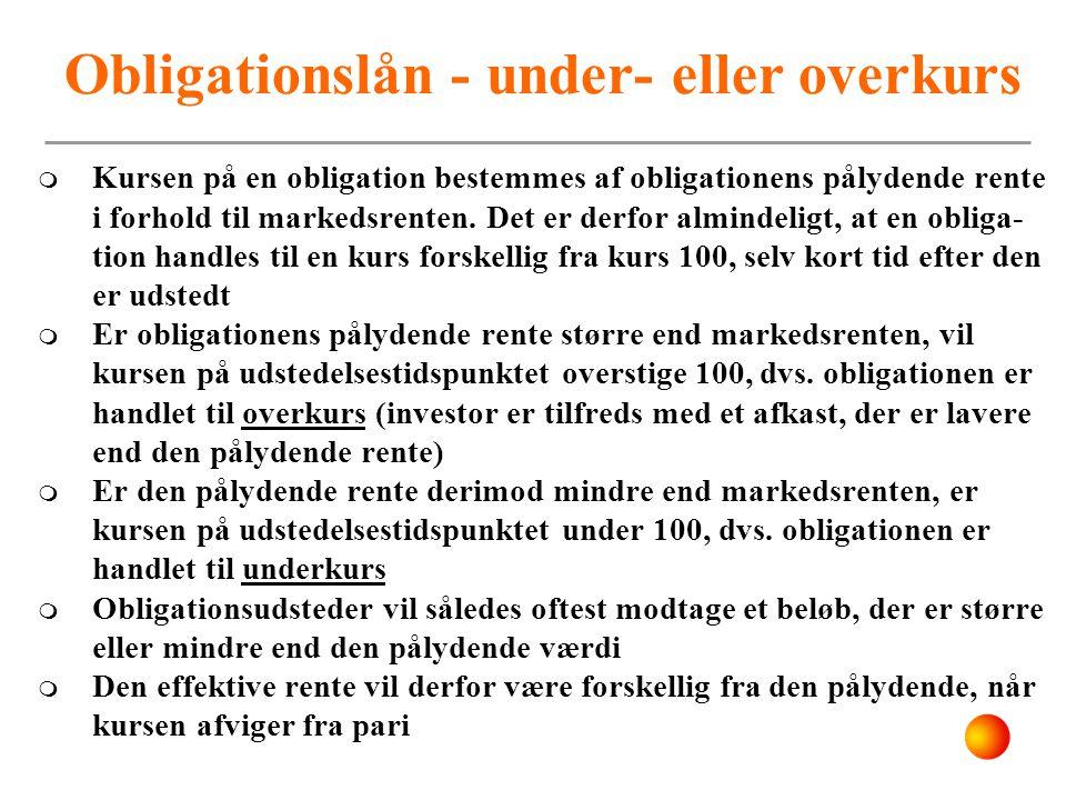 Obligationslån - under- eller overkurs