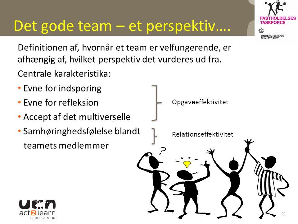 Det gode team – et perspektiv….